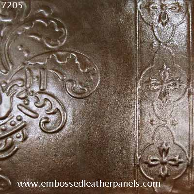 Embossed leather panel no 7205