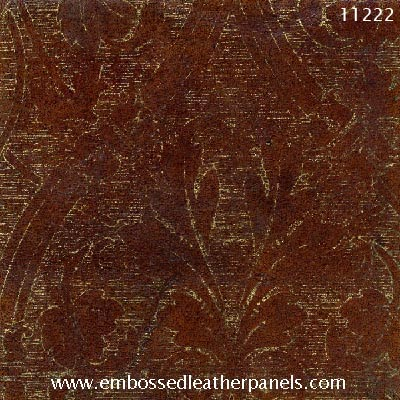 Leather panel with antiqued gilding no 11222